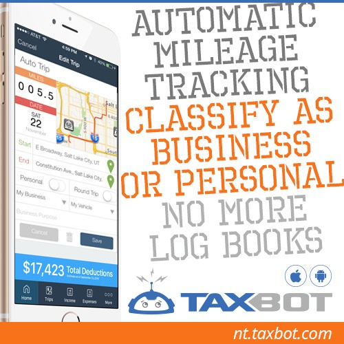 Taxbot, tack your mileage your way on smartphones